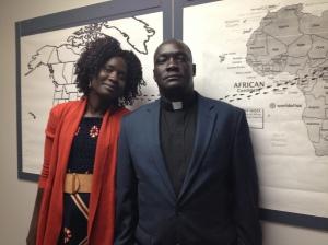 Vicar John Bakou and his wife Akuay