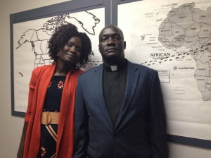 Vicar John Bakou and his wife Akuay