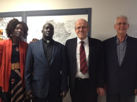 Akuay Bakou, Vicar John Bakou, Pastor Dennis B. O'Neill and D.C.E Craig Cooper